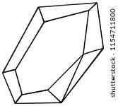 vector diamond rock jewelry...   Shutterstock .eps vector #1154711800