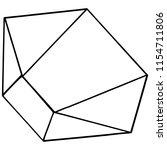 vector diamond rock jewelry...   Shutterstock .eps vector #1154711806
