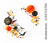 halloween holiday frame with... | Shutterstock . vector #1154712703