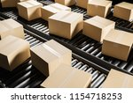 closed cardboard boxes on a... | Shutterstock . vector #1154718253