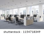 company office corner with a... | Shutterstock . vector #1154718349