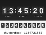 airport style countdown timer.... | Shutterstock .eps vector #1154721553