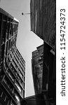 buildings in the city. black... | Shutterstock . vector #1154724373
