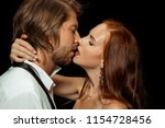 beautiful young couple in love... | Shutterstock . vector #1154728456