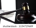 Law. Judge's Gavel. Black And...