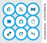 picture icons colored set with...   Shutterstock .eps vector #1154730676