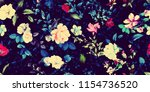 wide vintage seamless... | Shutterstock . vector #1154736520