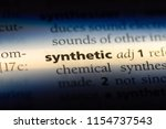 synthetic word in a dictionary. ...   Shutterstock . vector #1154737543