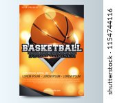 basketball poster with... | Shutterstock .eps vector #1154744116