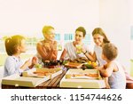 group of cheerful young people...   Shutterstock . vector #1154744626