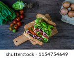 tasty and fresh delicious... | Shutterstock . vector #1154754649