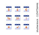 financial calendar  dollar sign ... | Shutterstock .eps vector #1154756446