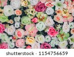 beautiful flowers as background   Shutterstock . vector #1154756659