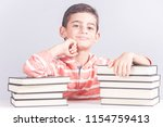 educational concept with happy...   Shutterstock . vector #1154759413