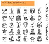 paintball and bb gun   thin... | Shutterstock .eps vector #1154763676