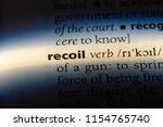 Small photo of recoil word in a dictionary. recoil concept.
