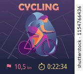 sports app for cyclist. mobile... | Shutterstock .eps vector #1154766436