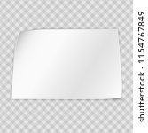 white note notebook paper with... | Shutterstock .eps vector #1154767849
