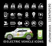 electric hatchback city car... | Shutterstock .eps vector #1154769190