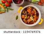 traditional portuguese goulash...   Shutterstock . vector #1154769376