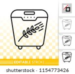 bread maker thin line icon.... | Shutterstock .eps vector #1154773426