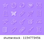needlework paper cut line icons ... | Shutterstock .eps vector #1154773456