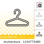 hanger thin line icon. outline... | Shutterstock .eps vector #1154773480