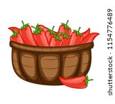cartoon drawing of a basket... | Shutterstock .eps vector #1154776489