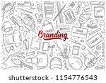 hand drawn branding set doodle... | Shutterstock .eps vector #1154776543
