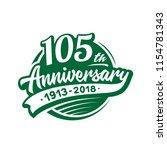 105 years anniversary design...   Shutterstock .eps vector #1154781343