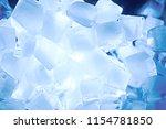 ice cubes texture   blue ice... | Shutterstock . vector #1154781850