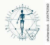 mystery  witchcraft  occult and ... | Shutterstock .eps vector #1154792560