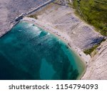 aerial view of rucica beach on... | Shutterstock . vector #1154794093