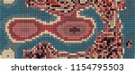 abstract mosaic pattern formed... | Shutterstock .eps vector #1154795503