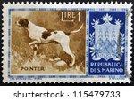 san marino   circa 1956  a... | Shutterstock . vector #115479733