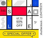 modern promotion square web... | Shutterstock .eps vector #1154799379