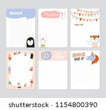 set of planners and to do lists ... | Shutterstock .eps vector #1154800390