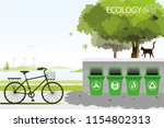 Vector Recycle Gabage Put In...