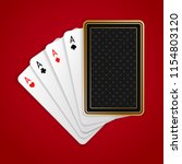 four aces in five playing card... | Shutterstock .eps vector #1154803120