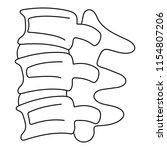 spinal column discs icon.... | Shutterstock . vector #1154807206