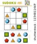 sudoku for children  education... | Shutterstock .eps vector #1154811469