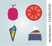 fruit icons set. isolated  cut  ...   Shutterstock .eps vector #1154812420