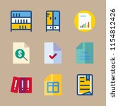 archive vector icons set. file  ...   Shutterstock .eps vector #1154812426