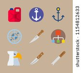 9 military icons set   Shutterstock .eps vector #1154812633