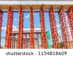 steel scaffolding in a bridge... | Shutterstock . vector #1154818609
