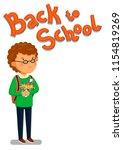 schoolboy and back to school... | Shutterstock . vector #1154819269