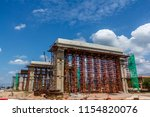 the foundation of a large... | Shutterstock . vector #1154820076