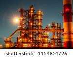 oil refinery industrial plant... | Shutterstock . vector #1154824726