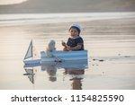cute baby child  sweet boy ...   Shutterstock . vector #1154825590