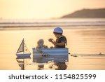 cute baby child  sweet boy ...   Shutterstock . vector #1154825599